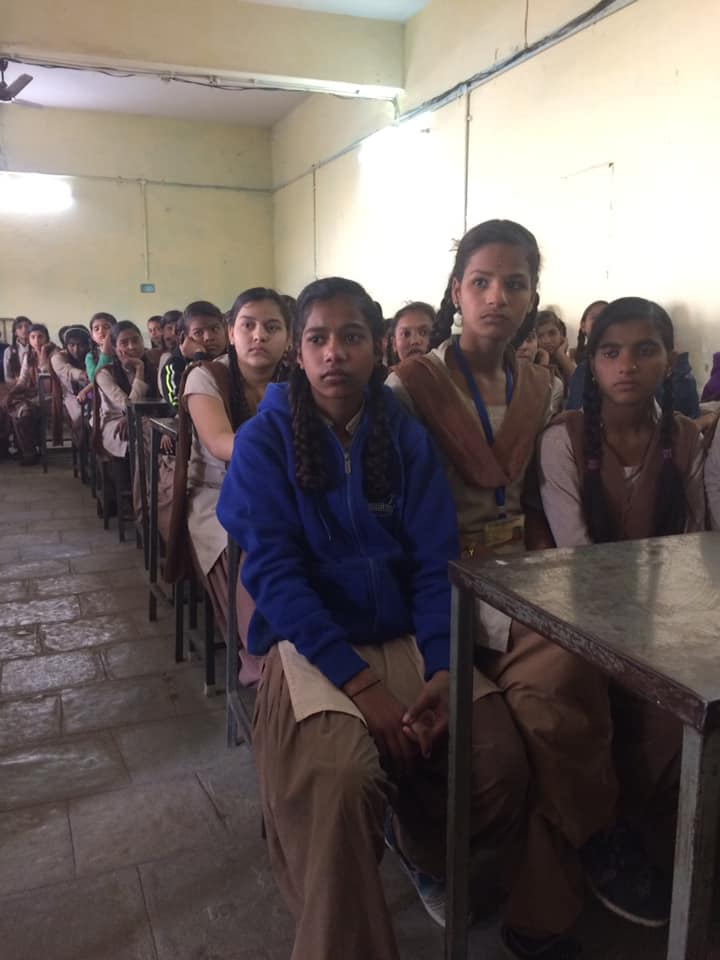 TCWG 20th episode of बेटी बचाओ बेटी पढ़ाओ और उसे समझाओ in Gov higher sec . school manglia 150 girls attended this thanks to Anjul kansal for arranging & pushpa Rane & prabha tiwari for attending