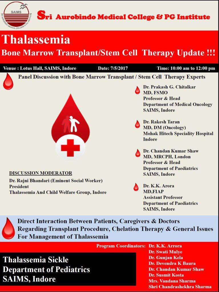 Thalassemia Bone Marrow Transplant/Stem Cell Therapy Update !!!