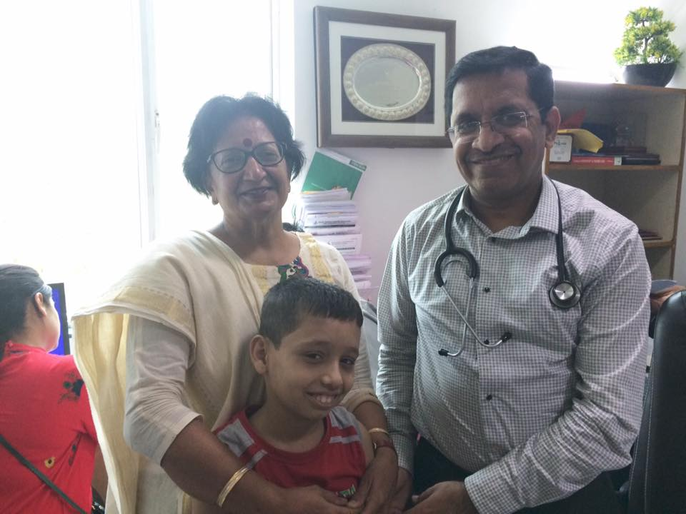 As informed by us to all of you that Uttam Söni is in delhi for BMT . All tests of him& his brother Arpit who is donating bone marrow to him are done . He has been admitted in bone marrow unit of rajiv gandhi hospital delhi today I am sharing his pictures with me with dr dinesh bhurani who is head of BMT team his father & technical expert before going to BMT unit , he needs wishes of every body